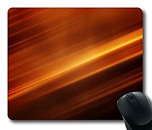 Aero Dark Orange 5 Gaming Mouse Pad Personalized Hot Oblong Shaped Mouse Mat Design Natural Eco Rubber Durable Computer Desk Stationery Accessories Mouse Pads For Gift - Support Wired Wireless or Bluetooth Mouse by Maris's Diary