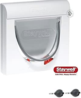 ac 41 932. supplied with two keys the staywell magnetic 4 way locking classic 932 cat flap ac 41