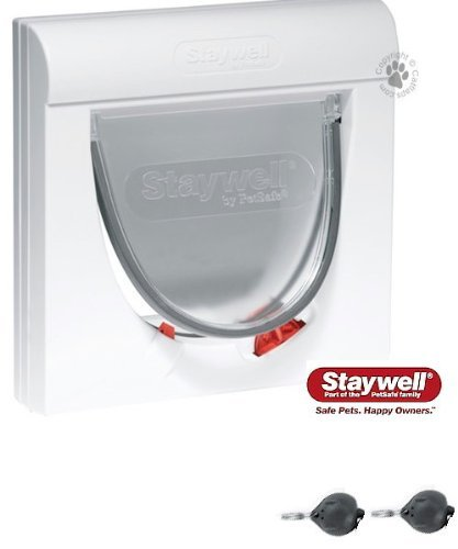 Supplied With Two Keys The Staywell Magnetic 4 Way Locking Classic 932 Cat Flap by Staywell (Image #1)