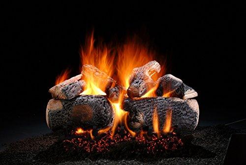 Hargrove Premium Supreme Ponderosa 24 inch Natural Gas Log Set with Burner