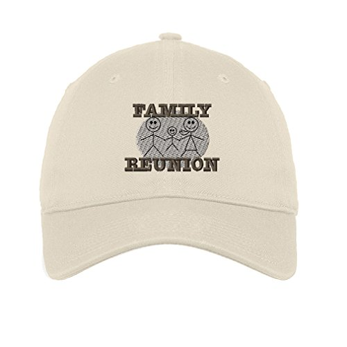 Family Reunion Twill Cotton 6 Panel Low Profile Hat Stone - Family Reunion Hats