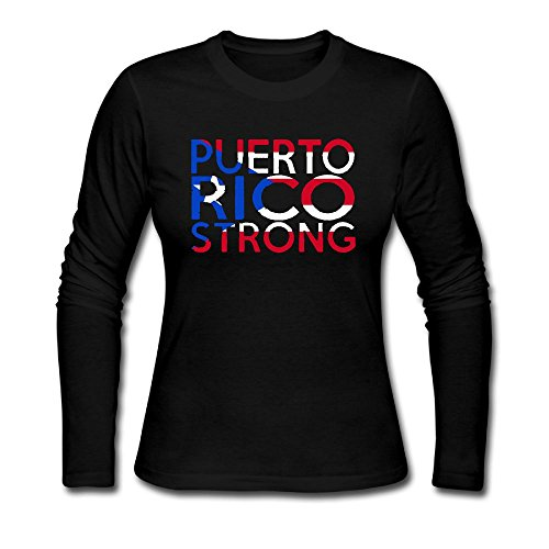 Puerto Rico Strong Custom Funny Long Sleeve Jersey T-shirt For Women (Valentine Printable Coloring Pages)