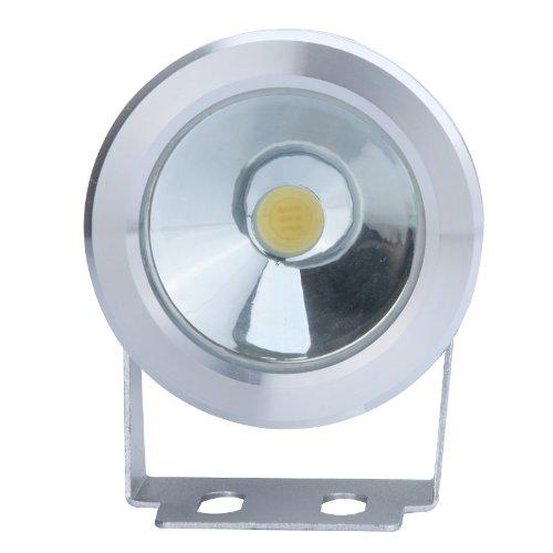 Flat Lens 10W 12V LED Underwater Light Flood Lamp Waterproof IP65 Fountain Pond Landscape Lighting 1000LM White by Generic