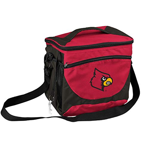 - NCAA Louisville Cardinals 24-Can Cooler with Bottle Opener and Front Dry Storage Pocket