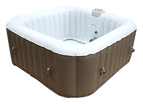 Indoor whirlpool aufblasbar  AQUAPARX Whirlpool AP-600SPA *rechteckig 155x155cm* Pool 4Personen ...