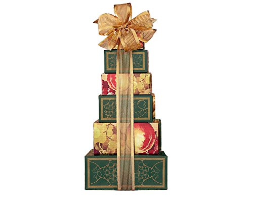 Chocolate and Sweets Tower - Country Baskets Wine Gift Popcorn