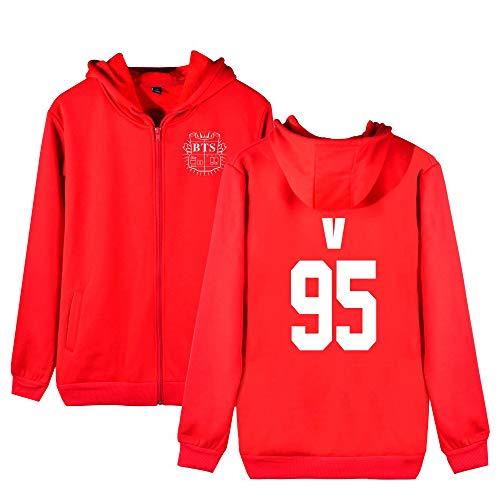 Cappuccio Per Uomini Red2 Aivosen Outwear Bts Cappotto Con Cashmere Allentato Comode Unisex Donne Zip Plus E Hoodie Sportive Moda Felpe SwZxp7nqZa