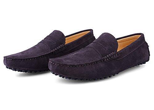 Slipper Leder Santimon Hausschuhe Schuhe Fahren Casual Bummler Halbschuhe Kaffee Mokassins Herren Business Klassisch qqaRxZf