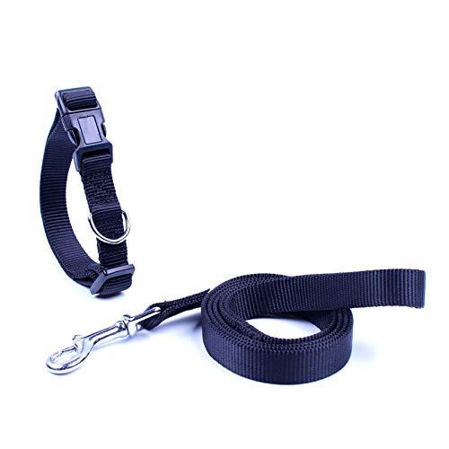 dfyjrikjop Collar para Mascotas con Correa de Perro, Cadena de Perro, Cuerda, Perro, Suministros para Mascotas,Negro2.5 * 120 cm
