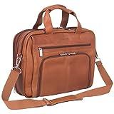 Kenneth Cole Reaction Colombian Leather Dual Compartment Expandable 15.6' Laptop Portfolio, Cognac