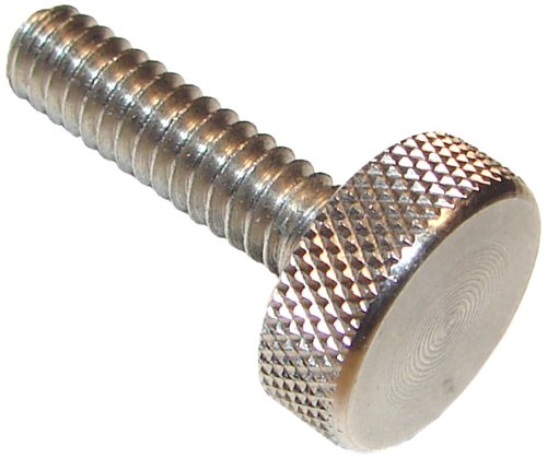 303 Stainless Steel Thumb Screw, Plain Finish, Knurled Head, 3/4