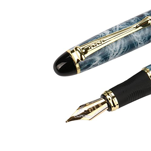JinHao X450 Fountain Pen Matte Frosted Deluxe Black Extra Fine Nib (K)