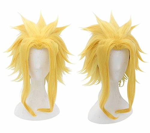 (Kadiya Medium Length Yellow Golden Might Boy Male All Comic-Con Cosplay Costume Wig Stage)
