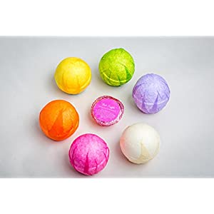 (FLASH SALE) 6 Premium, Handmade in USA, Extra Large Bath Bombs. All-Natural, Ultra Lush Gift Set, w/ Free Bath Truffle, All-Natural Essential Oils For Healing/Relaxation, Soothing Bath Fizzies