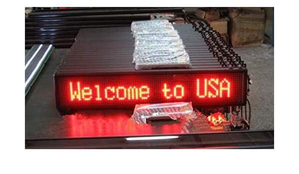 GOWE 1 pieza; 16 * 96 píxeles, led coche publicidad, DC 9 V-36 V, Led pantalla móvil, teclado remoto, inalámbrico + RS232, rojo, fabricante: Amazon.es: ...