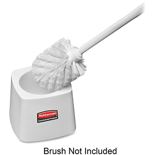 (Rubbermaid 631100 Toilet Bowl Brush Holder, Square, 5-Inch, White)