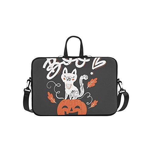 Vector Halloween Greeting Card Flyer Banner Pattern Briefcase Laptop Bag Messenger Shoulder Work Bag Crossbody Handbag for Business Travelling]()