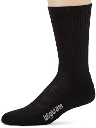 Wigwam Mens Hot Weather Bdu Pro Sock, Black, Medium
