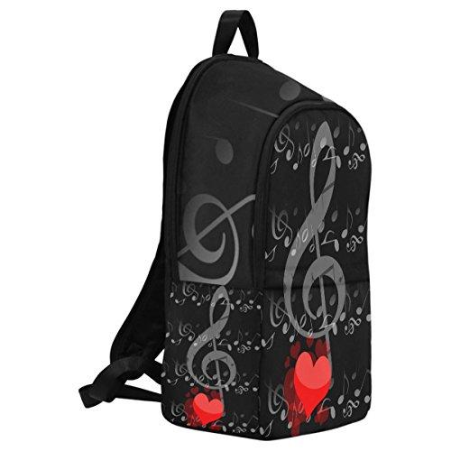 InterestPrint Custom Music Note Love Heart Casual Backpack School Bag Travel Daypack by InterestPrint (Image #1)