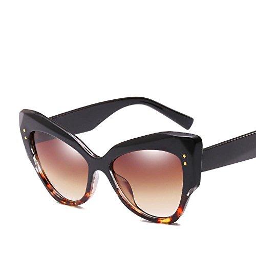 Regalos Estados de de Mujer de Hombre Gato de Sol Ojo Axiba y de arroz uñas Retros Europa Gafas B Gafas Sol Las Sol Gafas Tendencias de Unidos Las Moda creativos con TqfI8