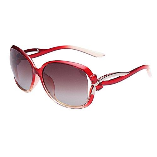 100 mujer la Talla Rojo única Gafas sol rojo para de UV de protección Duco polarizadas marca vino wxwq1CHz