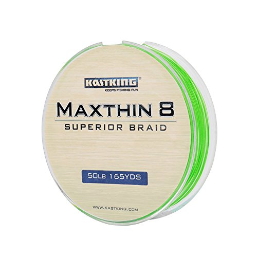 KastKing Maxthin8 Braided Fishing Line 8 Strands 165Yds/150M Upgrade From Power Pro Superline Strong PE Material