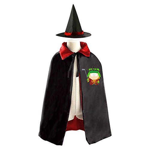 DBT South Park Logo Childrens' Halloween Costume Wizard Witch Cloak Cape Robe and Hat