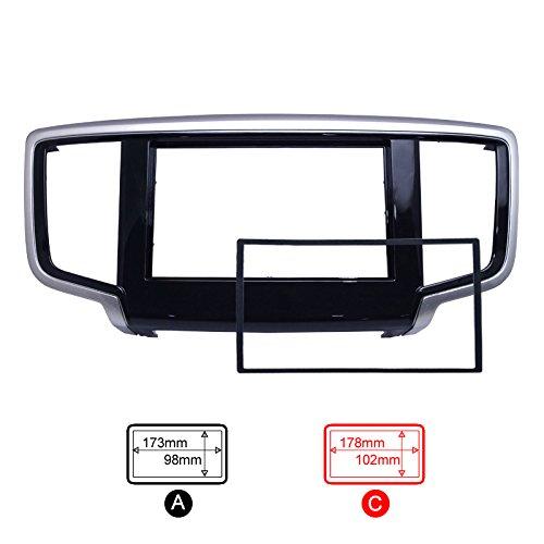 feeldo車2din DVDを再フィットフレームパネルダッシュキット鼻隠しラジオオーディオフレームfor 2014 Honda Odyssey C 4065 B0746CSKR1   C