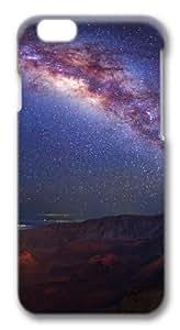 Bright night sky Custom iphone 6 plus 5.5 inch Case Cover Polycarbonate 3D