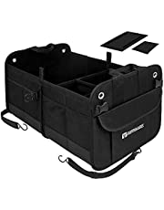Autoark Multipurpose Car SUV Trunk Organizer,Durable Collapsible Adjustable Compartments Cargo Storage