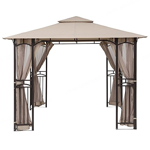 MasterCanopy Gazebo Mosquito Netting Screen Walls for 10 x 10 ,10 x 12 Gazebo Canopy Only Screen Walls