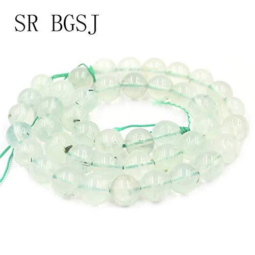 Calvas 4 6 8 10 12mm Green Prehnites Gems Genuine Natural Round Beads Stone DIY Beads Strand 15