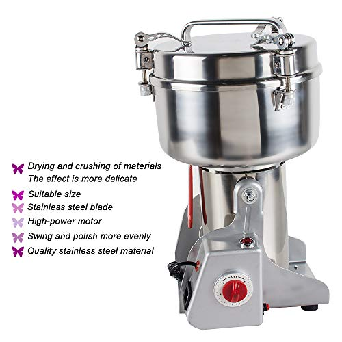 Stainless Steel Electric Herbal Medicine Grinder 1000g Portable Household Chinese Medicial Grains Spice Powder Milling Machine Kitchen for Mom, Wife by Fencia (Image #3)