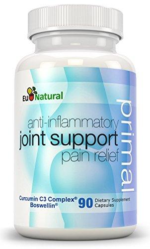 Primal Совместная поддержка противовоспалительное Pain Relief, 90 капсул (Pure Формула с куркумин, Boswellia, кора белой ивы, листьев оливкового, бромелайн)