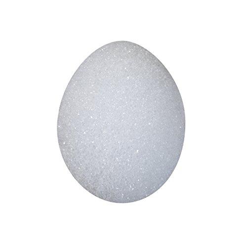 FloraCraft Styrofoam 4 Piece Egg 3.1 Inch x 2.3 Inch White