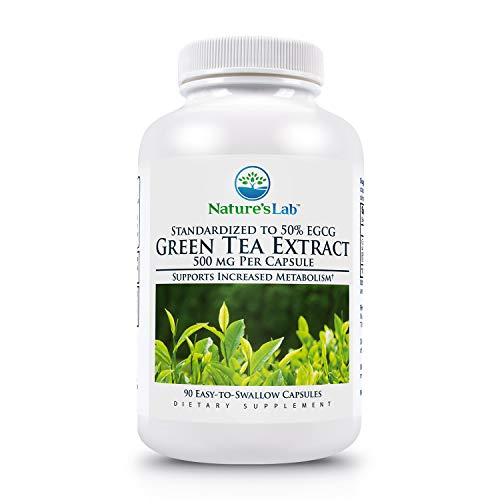 - Nature's Lab Green Tea Extract, 500 mg - 90 Capsules