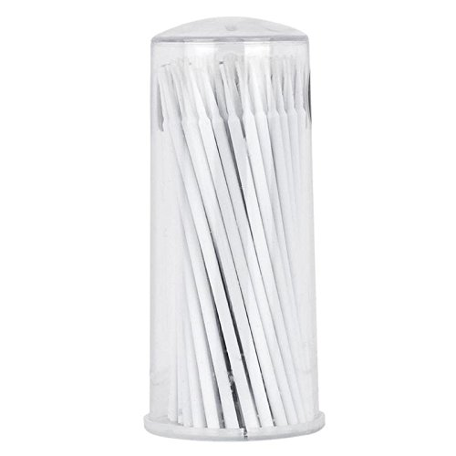 Yimart 400pcs White Regular Size 3mm Disposable Mascara Applicator Individual Eyelash Extension Micro Brush (White)