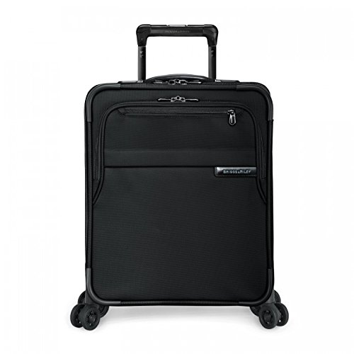 Briggs & Riley Baseline International Carry-On Expanadable Wide-Body Spinner, Black, One Size by Briggs & Riley