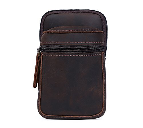 Genda 2Archer Genuine Leather Small Fanny Pack Waist Purse Belt Bag Bum Pouch ()