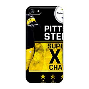LisaSwinburnson Iphone 5/5s Durable Hard Phone Case Customized Realistic Pittsburgh Steelers Pattern [qcE17338cppb]