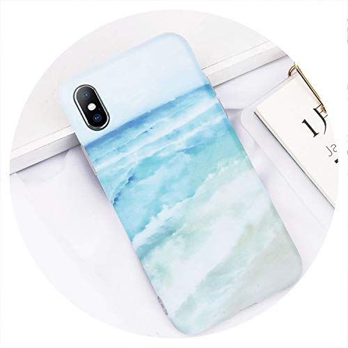 Glitter Powder Marble Phone Case for iPhone 7 Plus Cases for iPhone X 8 7 6 6S Plus Glossy Stone Silicone Soft Back Cover,8362,for iPhone 8 ()