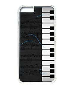 VUTTOO Iphone 6 Plus Case, Piano Music Sheet PC Plastic Hard Case Cover for Apple Iphone 6 Plus 5.5 Inch PC Transparent