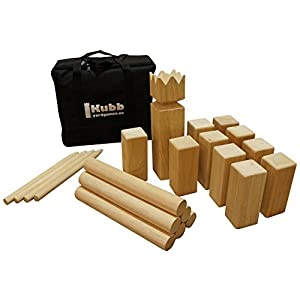 Yard Games Kubb Game Premium Set - 41SY3YKtYQL - Yard Games Kubb Premium Size Outdoor Tossing Game with Carrying Case, Instructions, and Boundary Markers