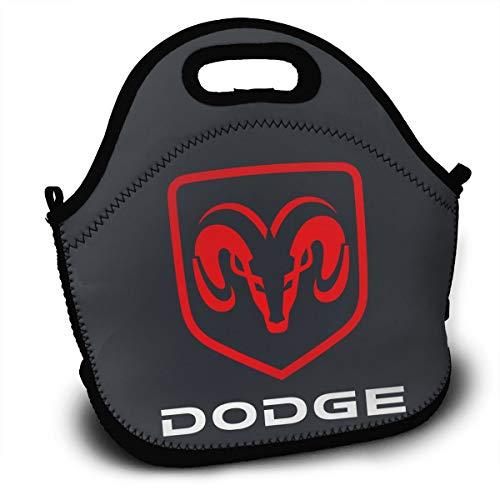 - KLA2000 Dodge Ram Hemi Logo Lunch Bag Lunch Tote Bag Travel School Picnic Lunch Box for Mens & Womens & Kids