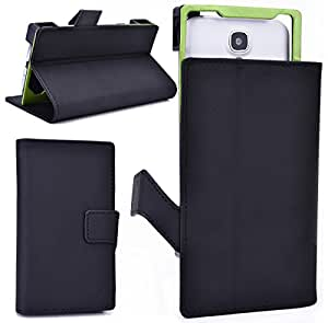NuVur &153; Slim BookStyle Case w/Stand&Camera Hole[COAL-MINE] for LG Nexus 4 E960