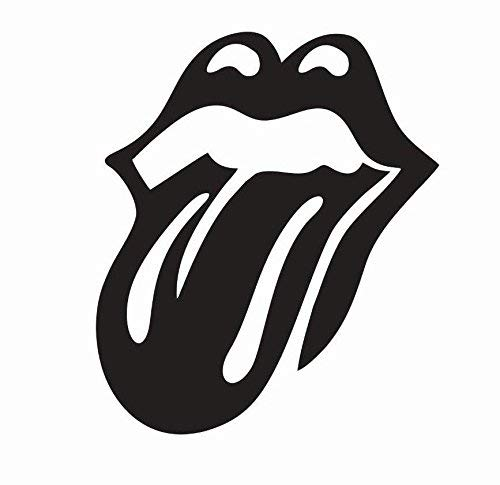 The Rolling Stones Band Poster | 3 Size Tongue Music Vinyl Die Cut Car Decal | The Rolling Stones car Sticker (Black Matte, 4 inch)