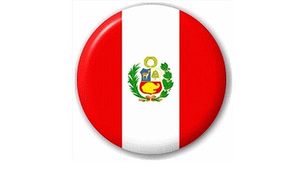 Perú – Bandera de estado peruana 25 mm Pin Botón Insignia Pin De Solapa: Amazon.es: Ropa y accesorios