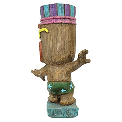 Design Toscano AL60180 Kahuna Tiki Surfer Dude Statue, Full Color : Garden & Outdoor