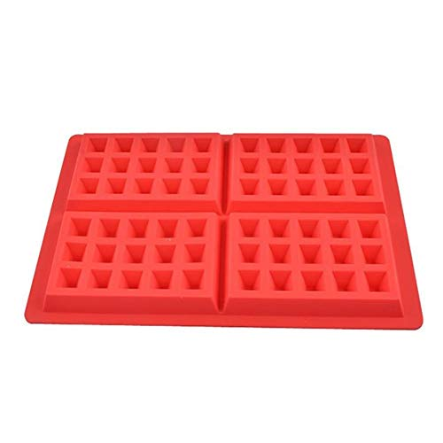 1 piece 2018 Waffles Silicone Mould Pan Cake Baking Baked Muffin Cake Chocolate Mold Tray F62 ()