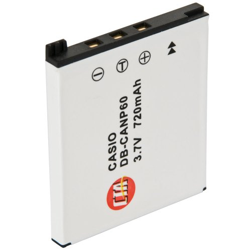 CTA Digital DB-CANP60 NP-60 Rechargeable Lithium-Ion Battery (720mAh, 3.7V) Replacement for Casio NP-60 Battery
